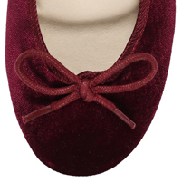 Burgundy ballerina shoes