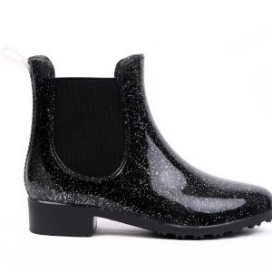 Black Lak Rubber Boots side look