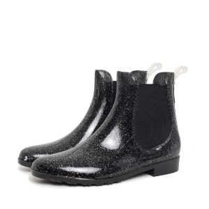 Black Lak Rubber Boots