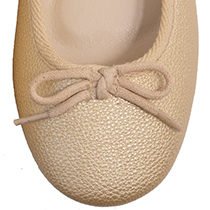 Gold ballerina shoes zoom-in