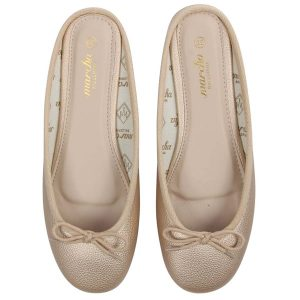Gold open back ballerina flats