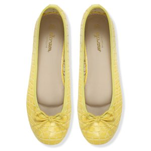 Women footwear yellow Ballerina flats shoes