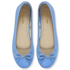 Women footwear blue Ballerina flats shoes