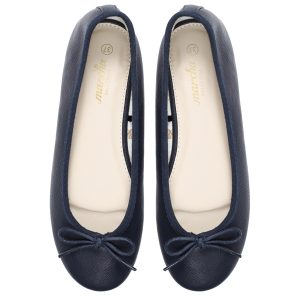 Women footwear dark blue Ballerina flats shoes