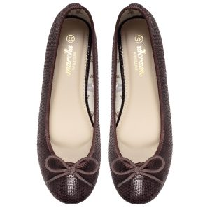 Women footwear brown Ballerina flats shoes