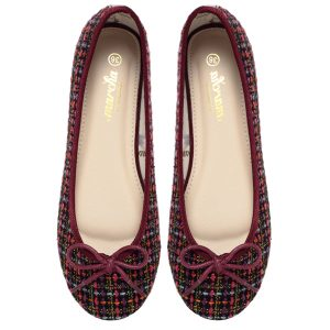 Burgundy doll shoes
