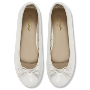 white Ballerina flats shoes