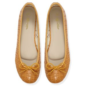 Women footwear Caramel Ballerina flats shoes