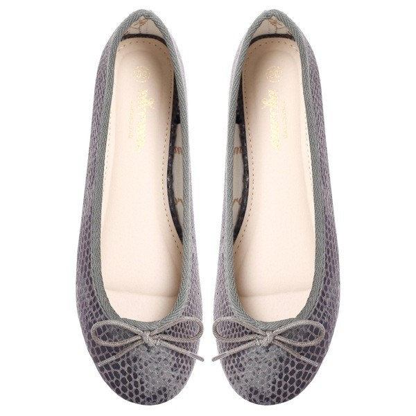 Women footwear grey Ballerina flats shoes