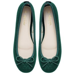Women Green footwear Ballerina flats shoes