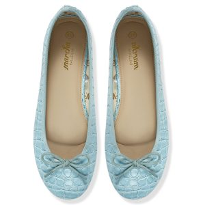 Women light blue ballerina flats / pumps