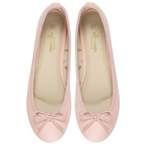 Women pink ballerina flats / pumps