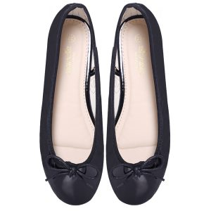 Women Black ballerina flats / pumps