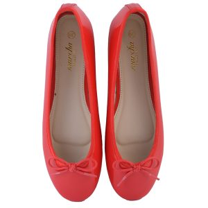 Women Red Doll pumps shoes