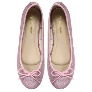 Women pink Doll pumps shoes