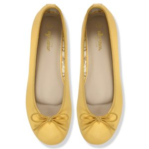 Women Yellow Doll pumps shoes