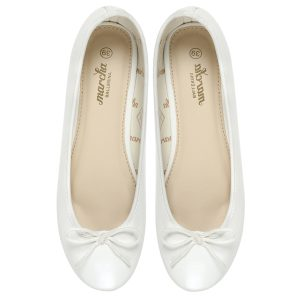 Women white Doll pumps shoes