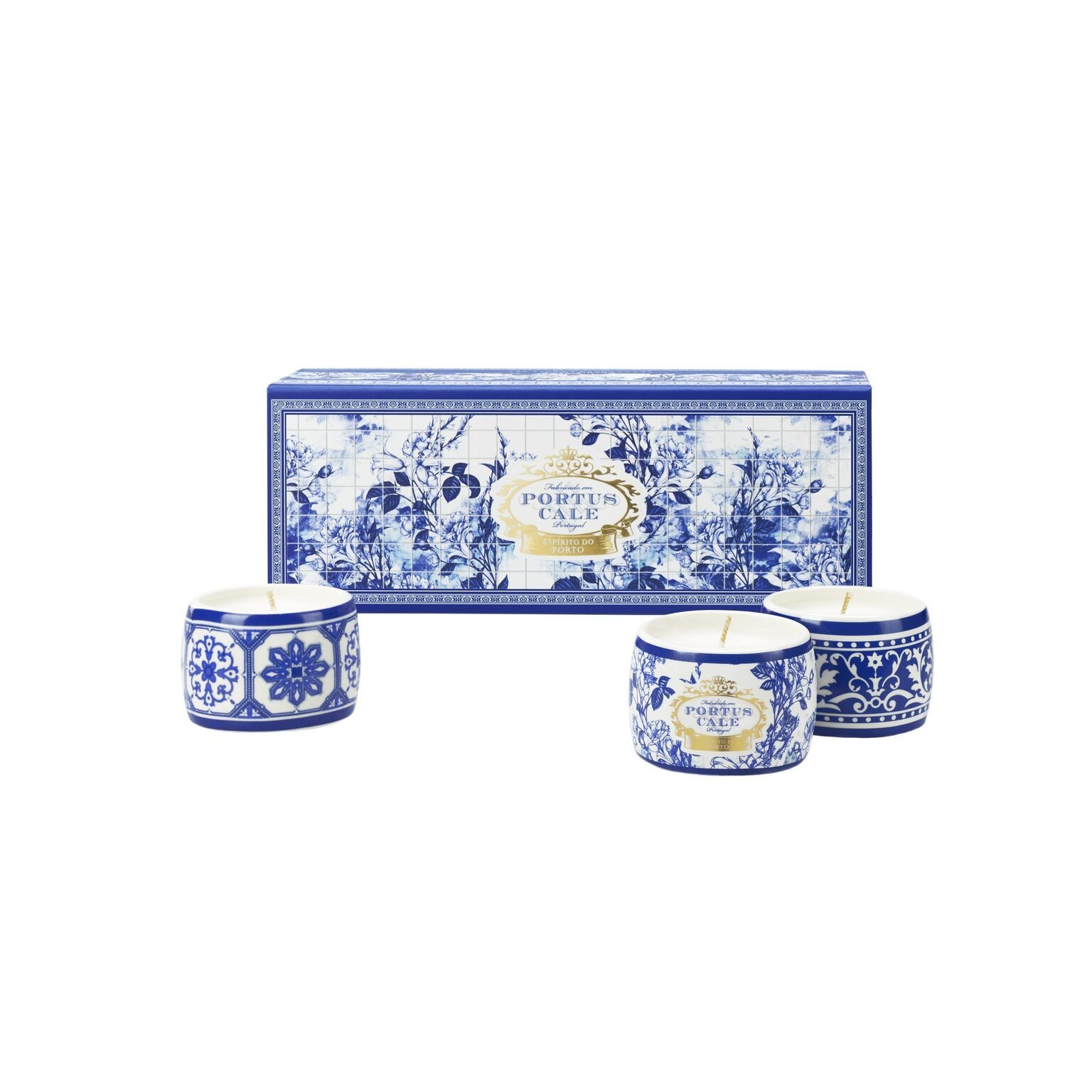 PC Gold&Blue Candle Gift Set B