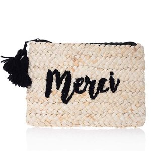 Black cluth bag merci