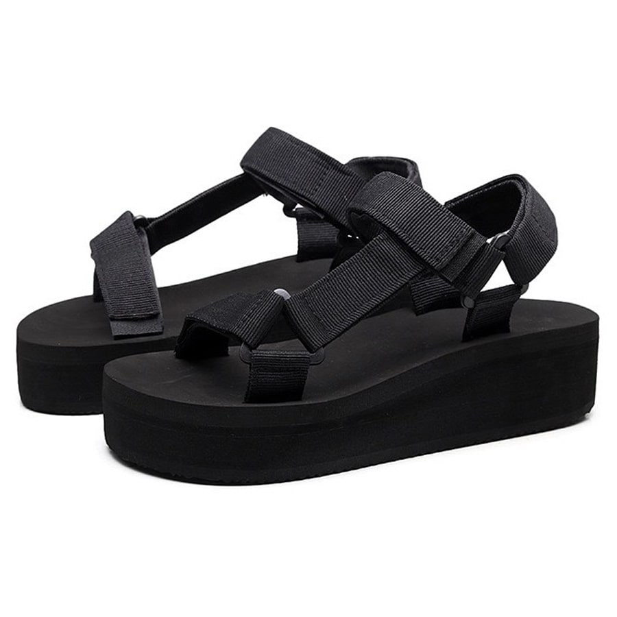 Black Teva Women Sandals