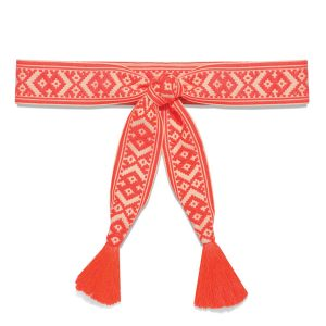 Women Orange waist belt